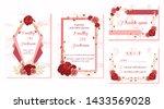 set of wedding invitation card  ... | Shutterstock .eps vector #1433569028