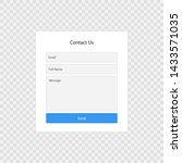 contact form page template...