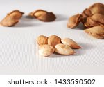 Apricot Kernel On White...