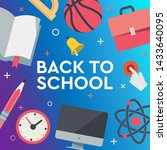 back to school sale banner ... | Shutterstock .eps vector #1433640095