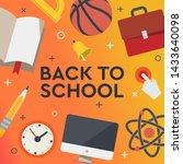 back to school sale banner ... | Shutterstock .eps vector #1433640098