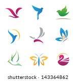 bird nature flying rhythm... | Shutterstock .eps vector #143364862