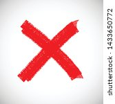 x marks .two red crossed vector ... | Shutterstock .eps vector #1433650772