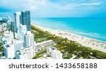 an aerial view of miami beach... | Shutterstock . vector #1433658188