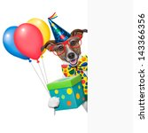 Birthday Dog With Balloons...