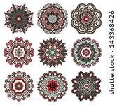 circle ornament  ornamental... | Shutterstock . vector #143368426
