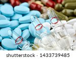 three ampoules with medicine... | Shutterstock . vector #1433739485