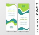 modern business roll up.... | Shutterstock .eps vector #1433745122