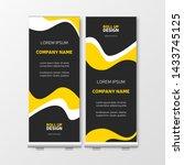 yellow business roll up.... | Shutterstock .eps vector #1433745125