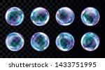 soap bubbles  realistic... | Shutterstock .eps vector #1433751995