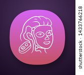 therapy facial mask app icon.... | Shutterstock .eps vector #1433766218