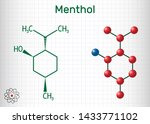 menthol molecule  is found in... | Shutterstock .eps vector #1433771102