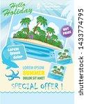 travel agency advert design ... | Shutterstock .eps vector #1433774795