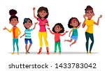 afro character woman different... | Shutterstock .eps vector #1433783042