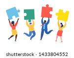 concept of teamwork. cartoon...   Shutterstock .eps vector #1433804552