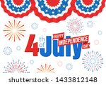 american independence day ... | Shutterstock . vector #1433812148