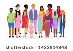 multicultural people group flat ... | Shutterstock .eps vector #1433814848