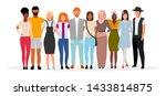 international friends flat... | Shutterstock .eps vector #1433814875