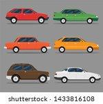 set of colorful passenger car... | Shutterstock .eps vector #1433816108