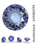 round jewelry gems isolated on... | Shutterstock . vector #143382595