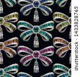 bow brooch vector seamless... | Shutterstock .eps vector #1433828765