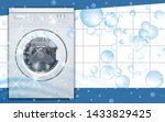 washing machine front loading... | Shutterstock .eps vector #1433829425