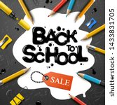 back to school sale design with ... | Shutterstock .eps vector #1433831705