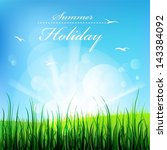 summer holiday  beautiful... | Shutterstock .eps vector #143384092