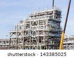 assembling of liquefied natural ... | Shutterstock . vector #143385025