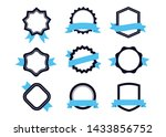 ribbons and labels blue. design ... | Shutterstock .eps vector #1433856752