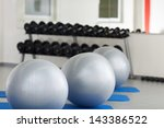 Interior Of Gym With Fitness...