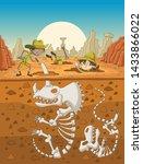 Cartoon Paleontology Kids...