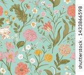 seamless vector floral pattern. ... | Shutterstock .eps vector #1433866598