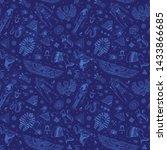 vector tribal ethnic seamless... | Shutterstock .eps vector #1433866685