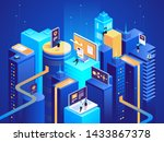 smart city isometric... | Shutterstock .eps vector #1433867378