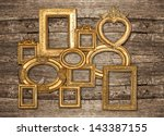 Antique Golden Framework Rusti...