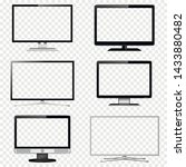 tv screen and computer monitor... | Shutterstock .eps vector #1433880482