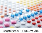 heap of medical pills in white  ... | Shutterstock . vector #1433895908