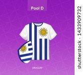 rugby jersey of uruguay team... | Shutterstock .eps vector #1433909732
