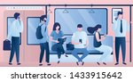 subway underground  train car... | Shutterstock .eps vector #1433915642