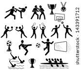 set of sport icons. vector... | Shutterstock .eps vector #143391712