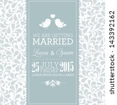 vector wedding card or... | Shutterstock .eps vector #143392162