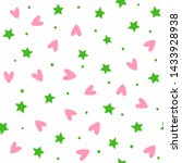 cute seamless pattern with... | Shutterstock .eps vector #1433928938