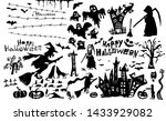happy halloween. a set of... | Shutterstock .eps vector #1433929082
