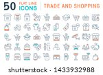 set of line icons of trade and... | Shutterstock . vector #1433932988