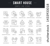 collection linear icons of... | Shutterstock . vector #1433933018
