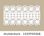 vintage lace eyelet  decorative ... | Shutterstock .eps vector #1433934368