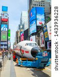 Small photo of New York, NY, USA - March 24,2019. THE iconic CONNIE airplane is transforming into a cocktail lounge at the TWA hotel