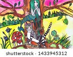 illustration to the poem by a.s.... | Shutterstock . vector #1433945312