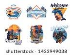 set vintage print collection.... | Shutterstock .eps vector #1433949038